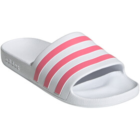 adidas Adilette Aqua Slides Women, bianco/rosa